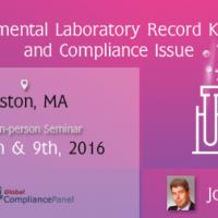 Laboratory Record Keeping and Compliance Issue Seminar in Boston