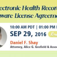 Electronic Health Records Software License Agreements 2016