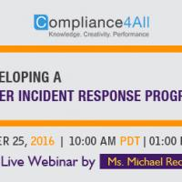 Developing a Cyber Incident Response Program in 2016 by Compliance4all