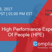 Creating High Performance Expectations Of People (HPE)