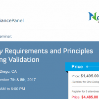 Regulatory Requirements and Principles for Cleaning Validation 2017