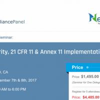 Data Integrity, 21 CFR 11 & Annex 11 Implementation 2017