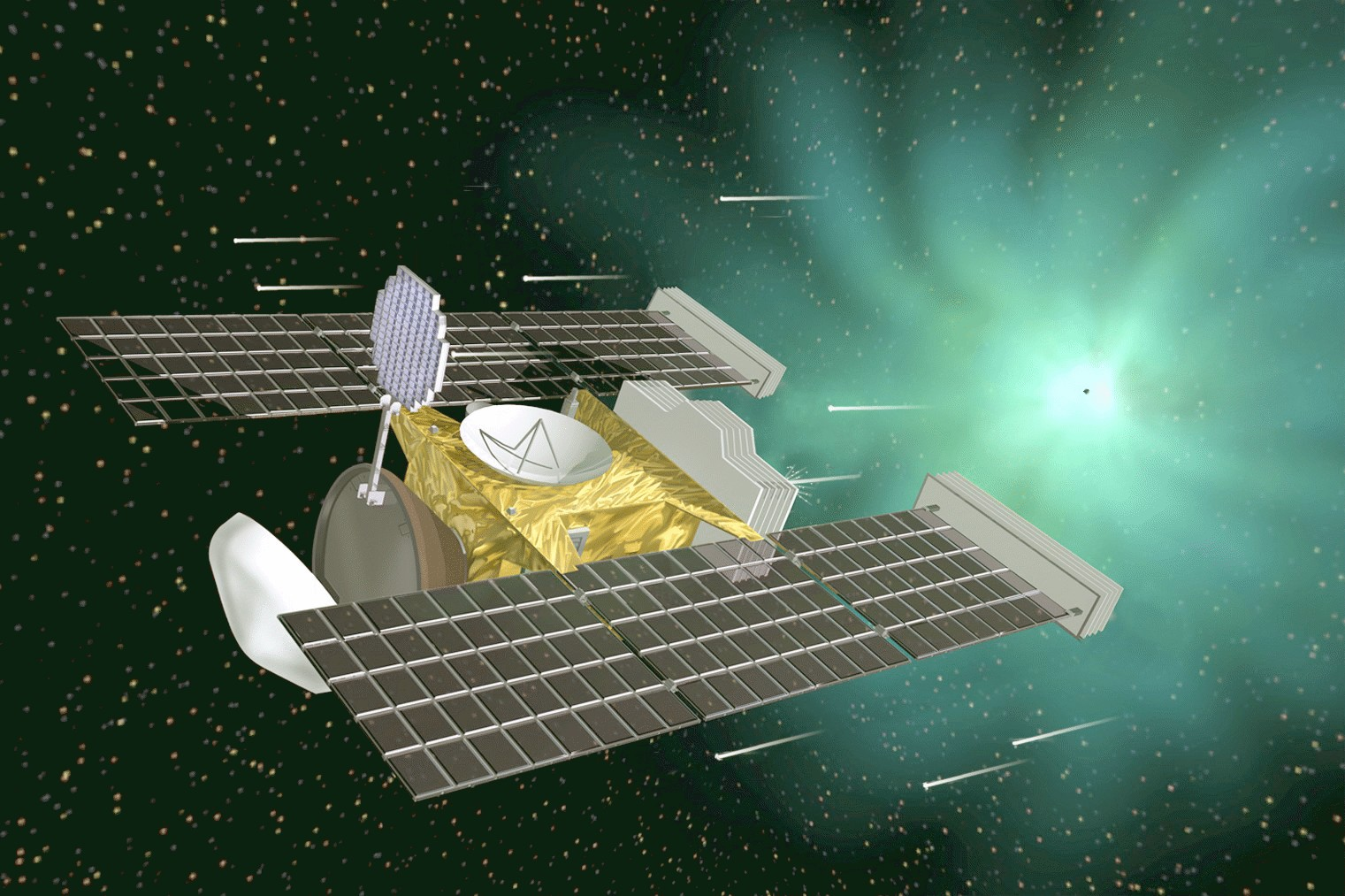 Spacecraft gather dust that come from outside solar system
