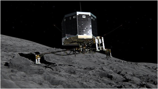 ESA Lander touches the comet