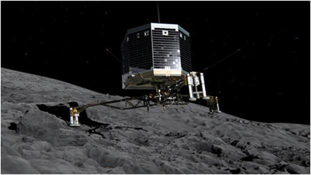 ESA Lander touches the comet