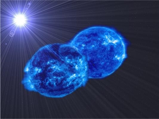 Astronomers observe two stars about to merge into a supermassive star