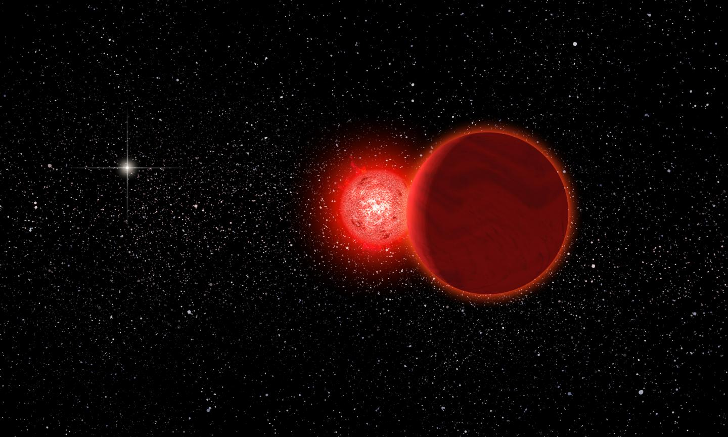 A red star visited our solar system 70000 years ago