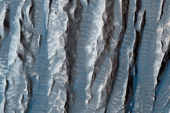 NASA News : Finger like structures on the red planet