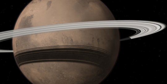 Martian moon could disintreagate to become a ring