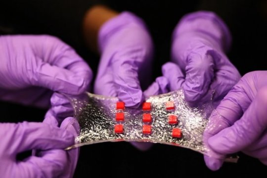 Stretchy hydrogel based multi-purpose 'Band-Aid' with sensors
