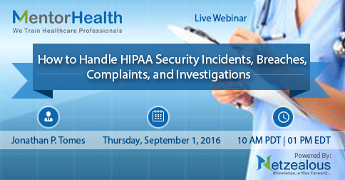 Ways to HIPAA Security Incidents 2016