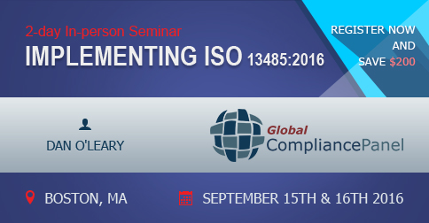Conference on Implementing ISO 13485:2016 in Boston