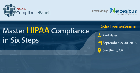 Master HIPAA Compliance in Six Steps conference 2016