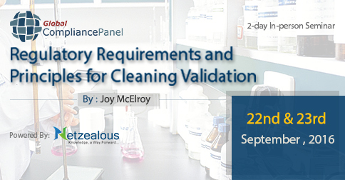 Seminar on Cleaning Validation Regulatory Requirements and Principles