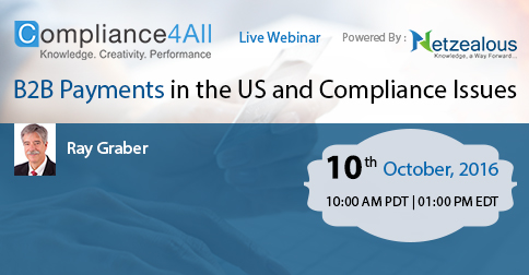 B2B Payments in the US and Compliance Issues in 2016 by Compliance4all