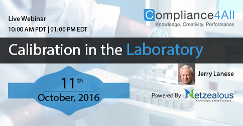 Calibration in the Laboratory in 2016 by Compliance4all