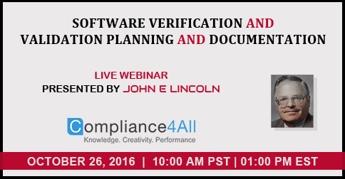 Validation Planning and Documentation in 2016 by Compliance4all