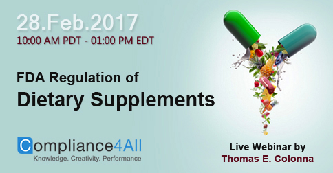FDA Regulation of Dietary Supplements